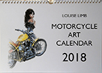 Motorcycle Art Calendar 2018 front cover