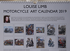 Louise Limb Motorcycle Art Calendar 2019 Back cover.