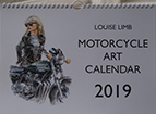 Motorcycle Art Calendar 2019 front cover