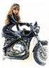 March, Marianne rides a Norvin. Also available as A4 Print.