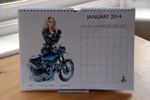 Louise Limb Classic Pin-Up Calendar 2014 Month sample.