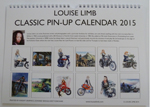 Louise Limb Classic Pin-Up Calendar 2015 Back cover.