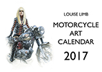 Motorcycle Art Calendar 2017 front cover