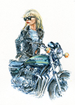 Kawasaki Z900 and Debbie Harry. Avaiable as an A4 and A3 print.