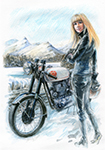 BSA Goldstar visits the snowy Lakes
